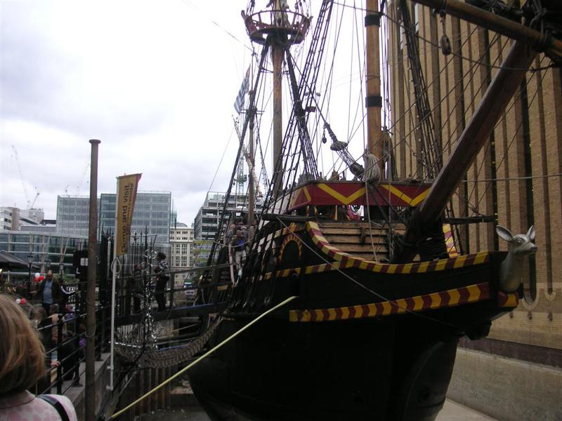 England-London-Thames-Festival - A disappointing pirate ship replica.