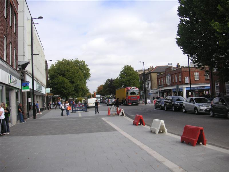 England-Brentwood-High Street - More of the high street, most of which was being dug up to be repaved.