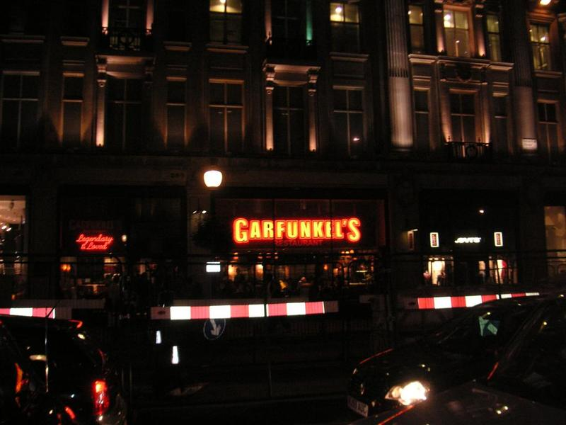 England-London-Soho - Had ribs for dinner at garfunkels, found out after that it was a chain store when I found another one around the corner which caused me to become conf