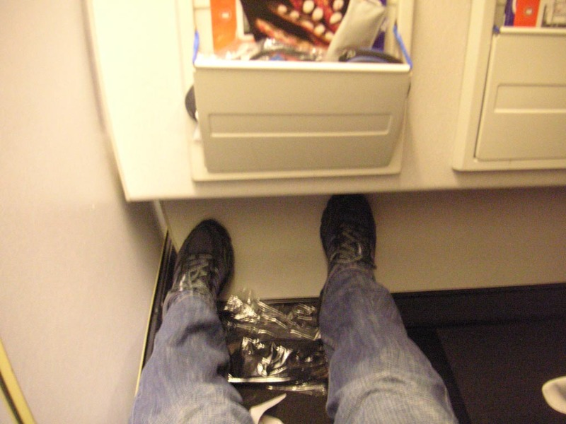 Singapore-London-Heathrow-Qantas - My seat, picture doesnt convey it well but theres really a lot of leg room.