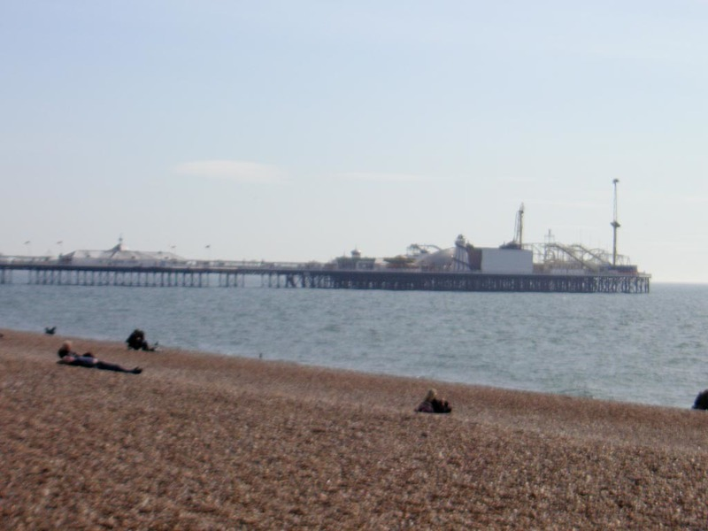 England-Brighton-Jetty-Beach - And heres the pier that didnt burn down.