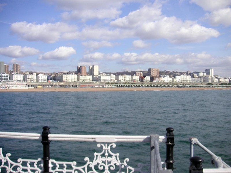England-Brighton-Jetty-Beach - boring cityscape shot.