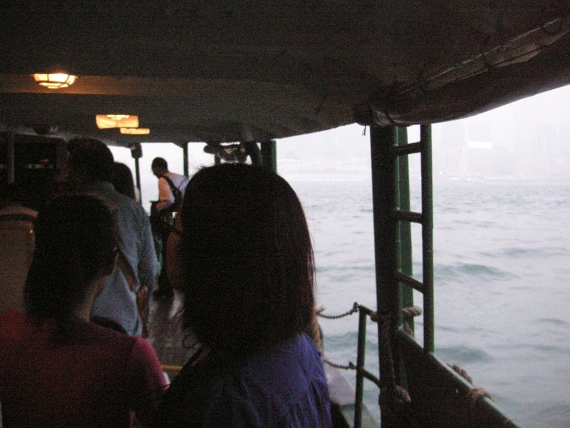 Hong Kong-Star Ferry-Smog-Tsim Sha Tsui - Riding on the ferry.