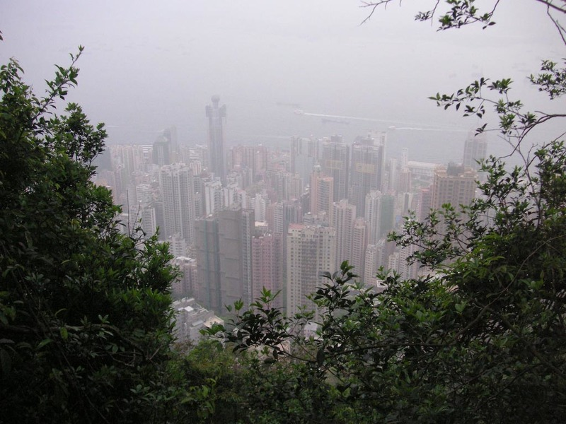 Hong Kong-The Peak-View - The nature walk occasionally comes to a spot like this.