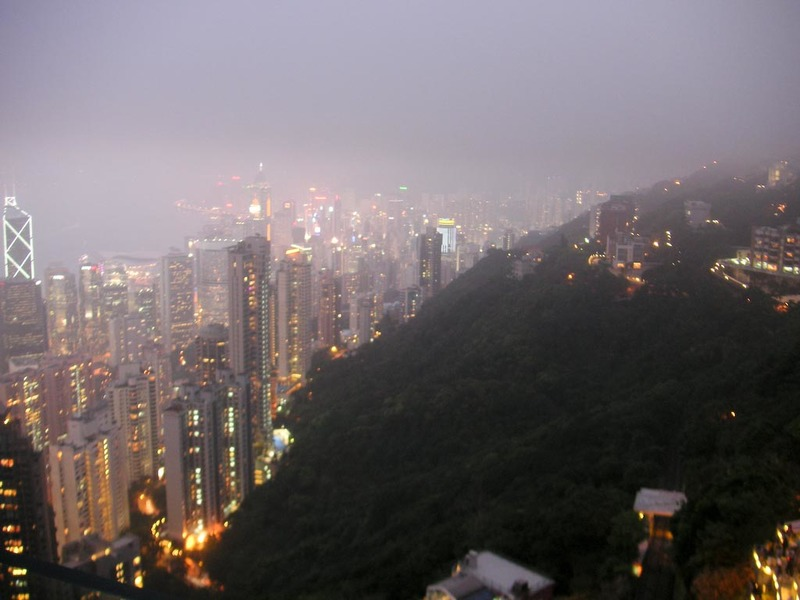 Hong Kong-The Peak-View - If you sit still and just stare, you notice the lights come on all over the place.