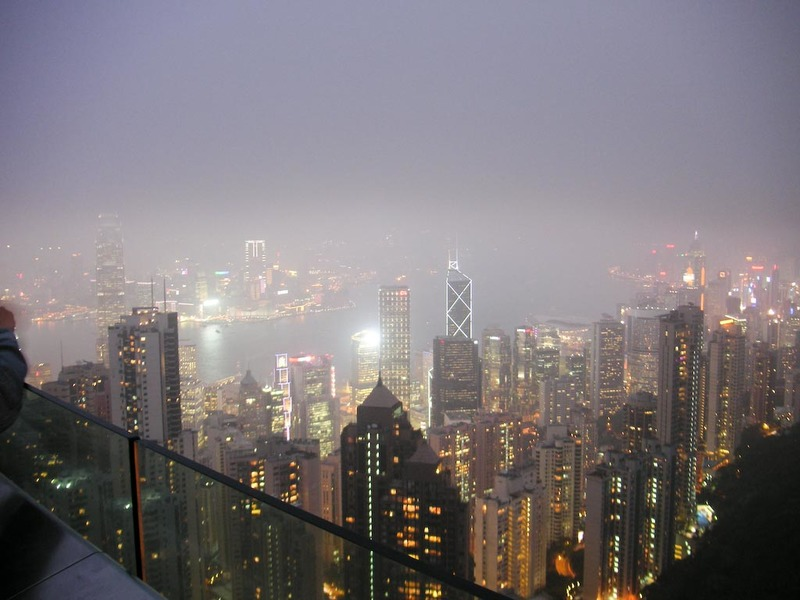Hong Kong-The Peak-View - Almost dark...shame about the smog.