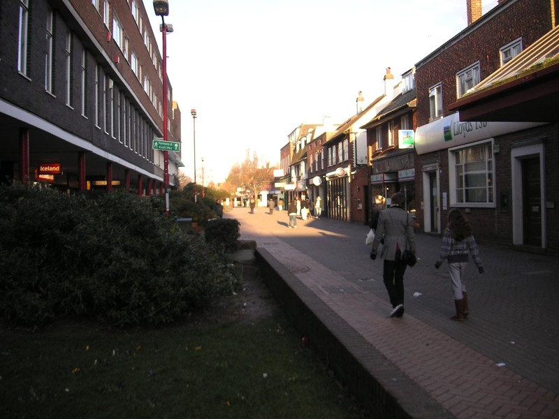 England-Hatfield-Cold - This is the actual main street in Hatfield, its devoid of anything now apart from banks and penny stores and visa services for indian people. This is