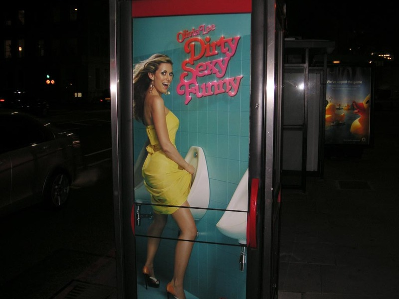 England-London-Brent-Wembley - On my evening walk I spotted this on a phone booth, its one of the most tasteful ads I have ever seen.