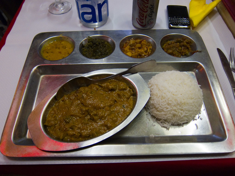 France-Paris-Indian Food - Lamb curry with various accompaniments. Very delicious actually. I also had dessert as it was included in the price, Galub Jamon. I feel very sick fro