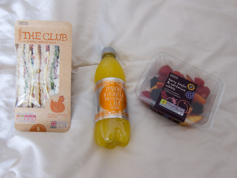 England-London-Camden - Here is my exceptionally boring lunch from M&S, I do like the fruit salads in England though.