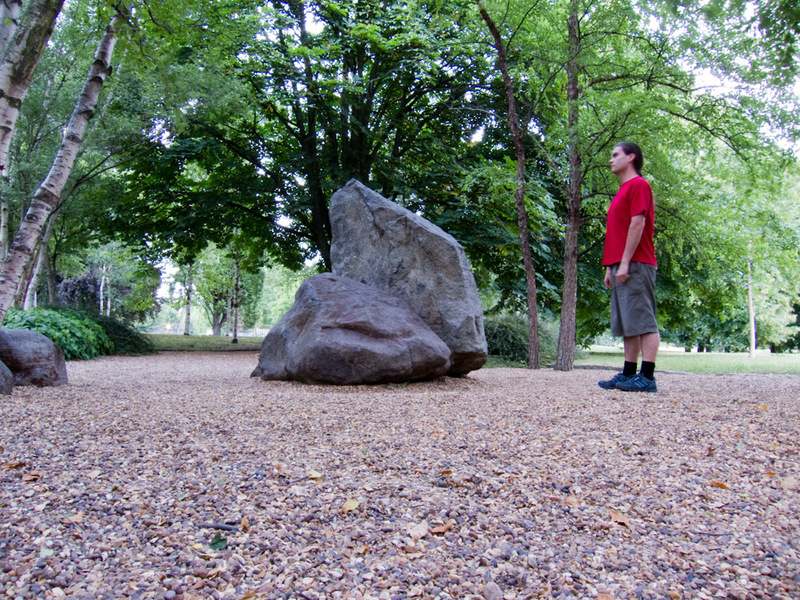 England-London-Hyde Park - This rock is very interesting to me. Note the exif data if you expand the picture, I had to stand still for a long time.