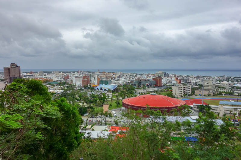 news - Taitung was the smallest city I visited. Here it is. As seen from a strange temple complex that appears to be built on an artificial coral reef.