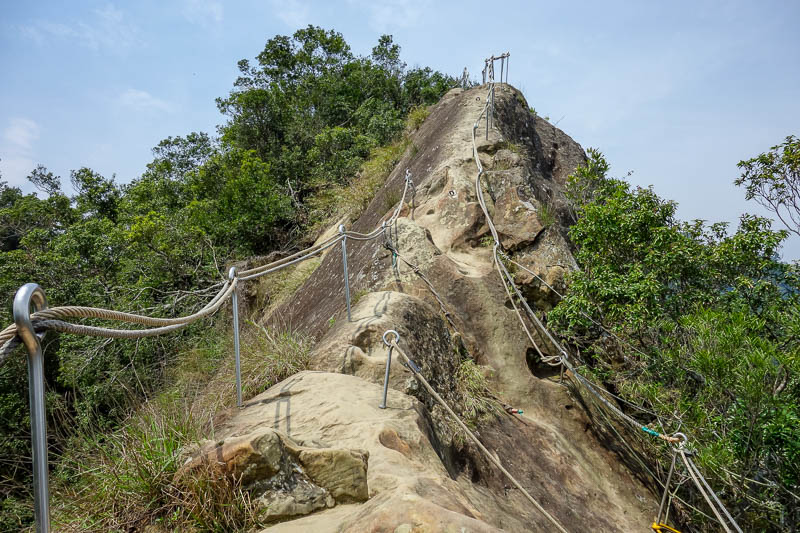 news - The last hike was to WuLiaoJian, and its often said to be the most dangerous hike in Taiwan. Yeah there are ropes and ladders (next pic) but its reall