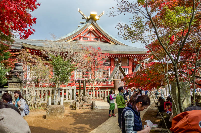 news - A very colorful temple on Mount Oyama. It was a busy mountain.
