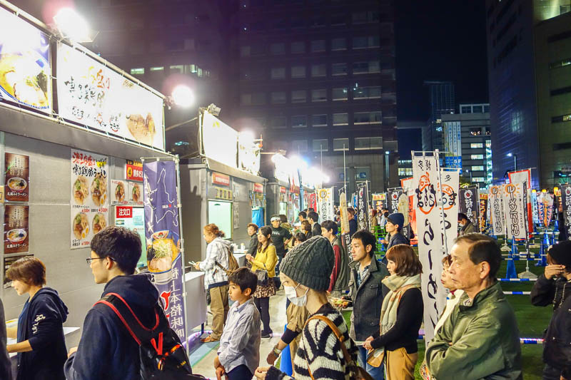 news - Here is the outdoor ramen festival. I think this was the last night. This one seemed more popular with the locals compared to the ramen stadium in the