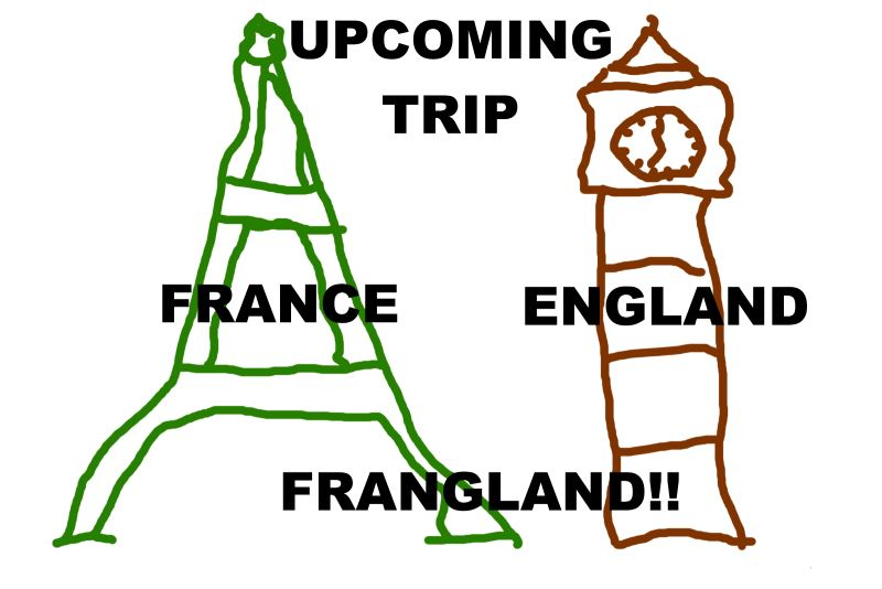 news - Bonus upcoming work trip - France & England