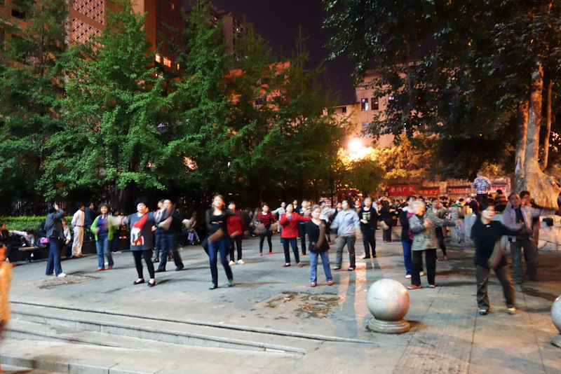 China-Chongqing-Shapingba-Dancing - The square / line dancing is so popular you might just need to book.