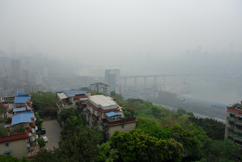 China-Chongqing-Eling Park-Fog - Last fog picture for today.