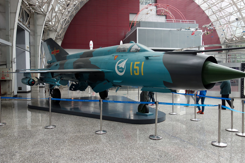 China-Chengdu-Mall-Science Museum - We started off good, a Chinese Mig-21 copy. This is the only place I saw any other people. A school group was just leaving as I arrived.