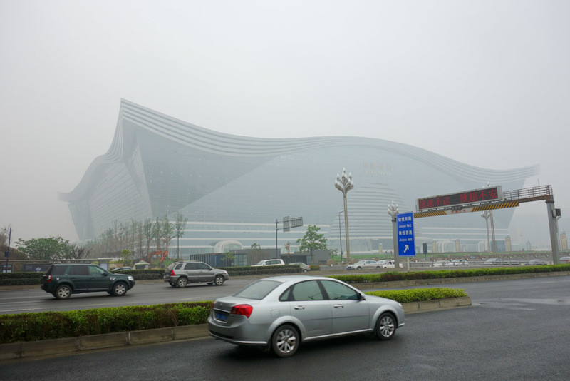 China-Chengdu-Global Center-Architecture - The worlds largest building, 3x the size of the pentagon, 500 metres long, 400 metres wide, 100 metres high. And after I read the SMH article I linked
