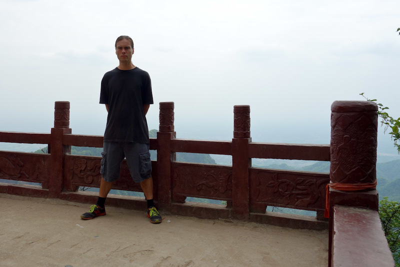 China-Hiking-Shrine-Qingcheng - Me again. People looked at me like I was crazy.