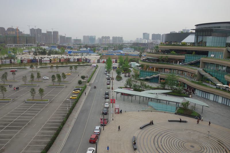 China-Chengdu-Mall-Shopping Street - This is the Mix C megamall view from the roof. Its eerily similar to a place I visited in Nanjing, which may have also been called Mix C but I cant re