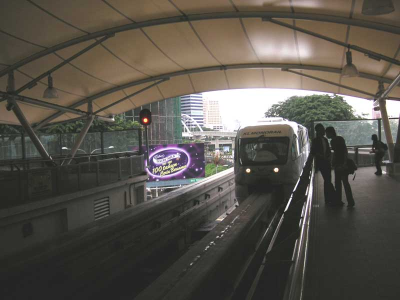 Malaysia-Kuala Lumpur-Mall-Monorail - I take the monorail to preserve legs for the walking ahead.
