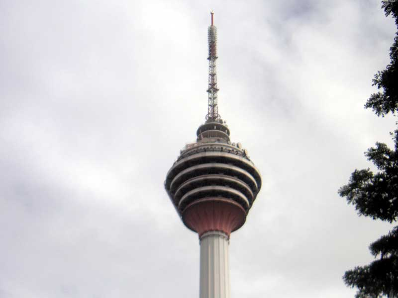 Malaysia-Kuala Lumpur-Mall-Monorail - A tower I hope to go up, have to research further.