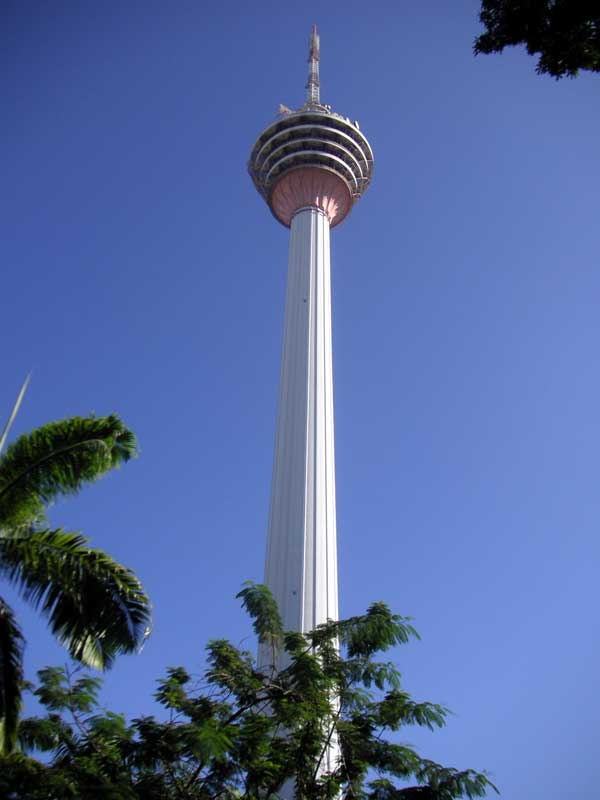 Malaysia-Kuala Lumpur-Menara Tower - I walked away from the menara tower a bit to take this shot, then I decided I might as well walk the whole way down.