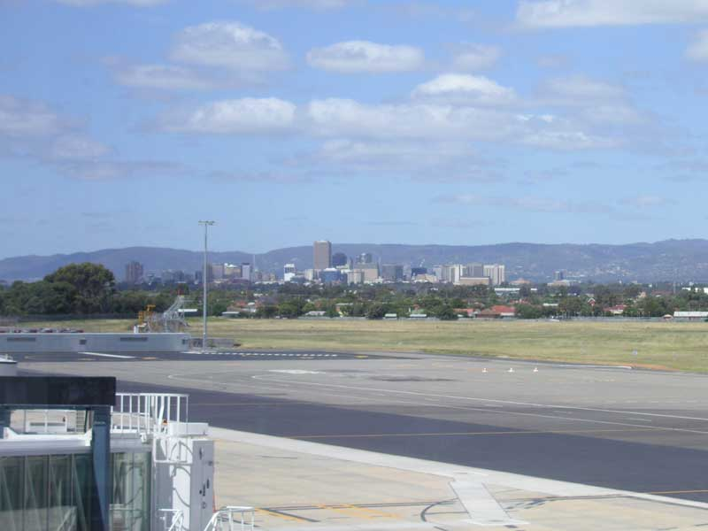 Adelaide-Airport - Adelaide as seen from the airport - we are lucky it is close to the city.