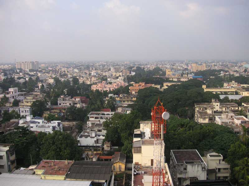 India-Chennai-View - Chennai from the roof