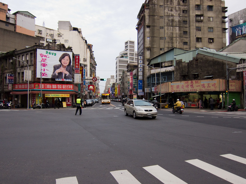 Taiwan-Taipei-Ximending-Taipei - This is just a typical street where I stopped to watch traffic go past, the street goes on forever and ever into the horizon. I made a video of the hi