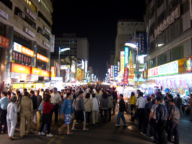 Taiwan-Kaohsiung-Night Market-Liuhe - And this is the night market. It goes on like this for at least 2km. The sign says it closes at 5am, during the day its a very busy road. This is not