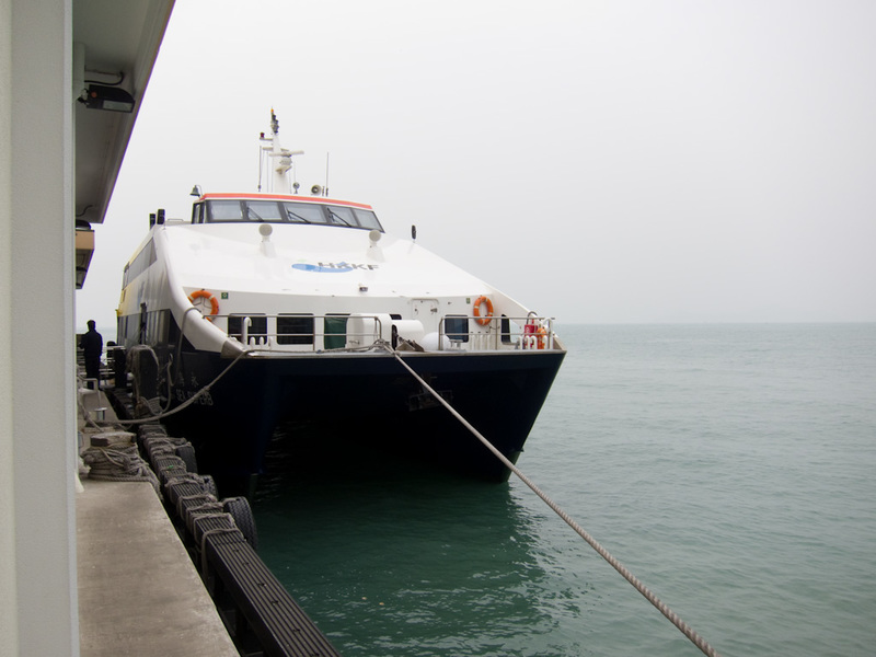 Hong Kong-Hiking-Ferry-Lamma Island - Heres my ferry, its a good thing I lined up 10 minutes early as they had to turn people away. Its a bit of a shame theres no outdoor part for you to s