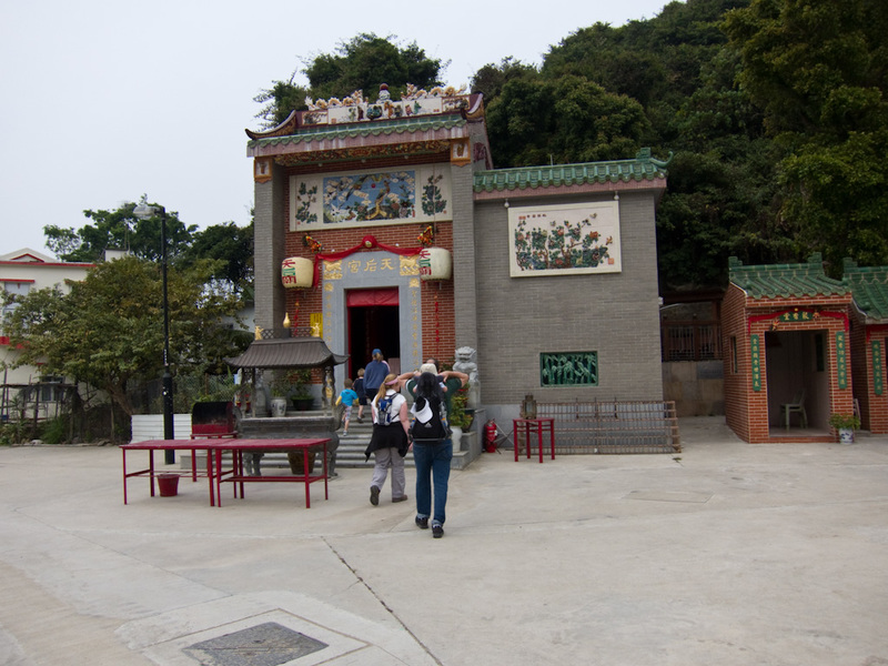 Hong Kong-Hiking-Ferry-Lamma Island - Heres a half assed attempt at a temple. It looks cheap and nasty.