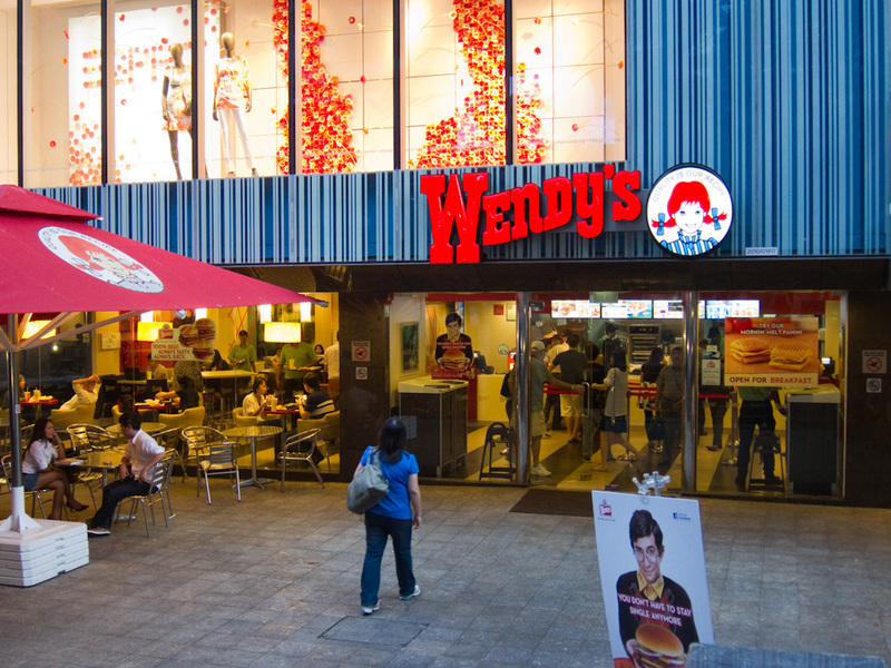 Singapore-Habourfront-Laksa - Also along Orchard road, you get many USA fast food places I have not seen before, such as Wendys. Not the Australian pink wendys that sells ice cream