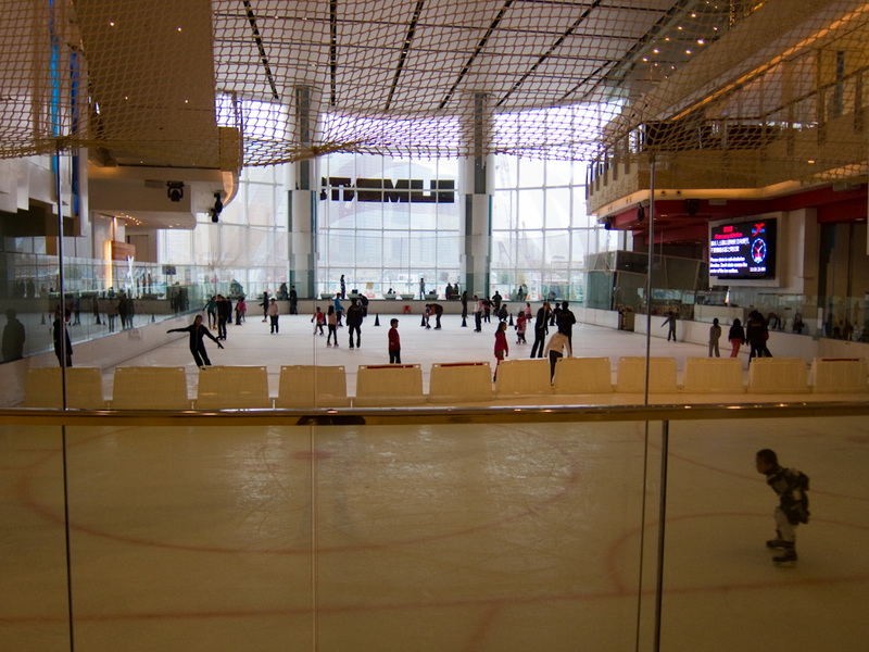 Hong Kong-Kowloon-Ice Skating - Like everywhere, under the new buildings theres a huge shopping mall, which also incoporates the 'in town airport check in' and high speed rail to the