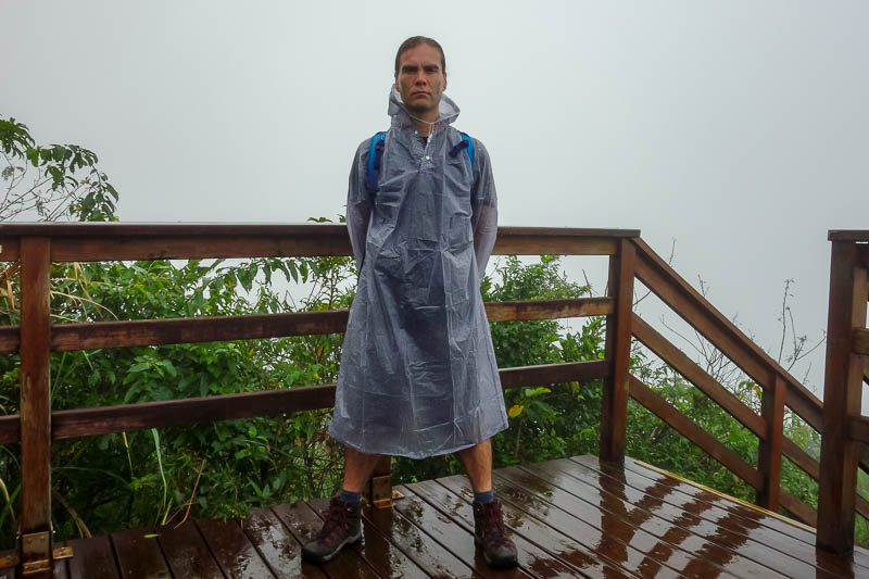 Taiwan-Hualien-Hiking-Rain-Zuocang - RETURN OF THE COAT. That reminds me I need to take it out of its plastic bag and dry it.