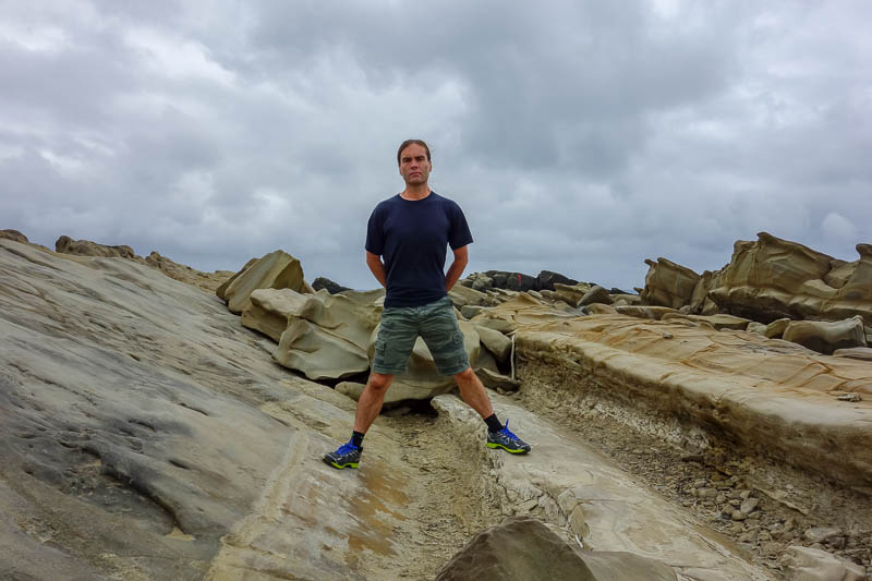 Taiwan-Taitung-Beach-Xiaoyeliu - I headed back down to the rocks and found the perfect spot. I did not get washed out to sea by a freak wave. Lots of Chinese tourists wanted to stand