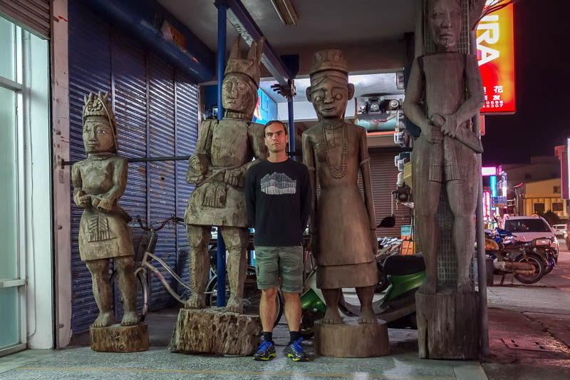 Taiwan-Taitung-Food-Cake - Then I hung out with some wooden natives. None as wooden in their performance as me. Note my jumper / sweater (american translation). I believe I have