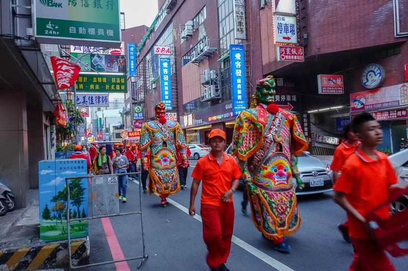 Taiwan-Tainan-Shopping Mall-Blueprint Culture - Part 3 of parade, my gigantour guards.
