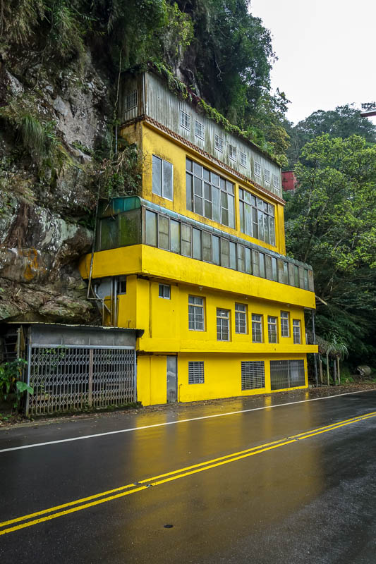 Taiwan-Shiding-Hiking-Huangdidian - Whilst walking along the road in the rain, people slowed down to laugh at me. I laughed at houses built on the side of a cliff. We were all having a g