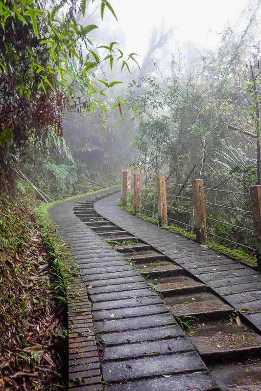 Taiwan-Sun Moon Lake-Rain - Its not all flat smooth paths and roads. At times you have to climb up quite a long way, or take switch back roads up a cliff. I remember reading repo