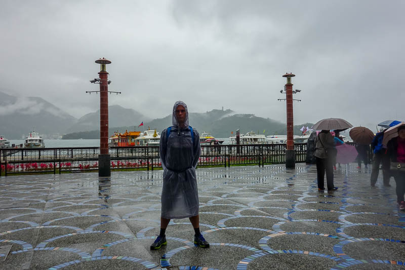 Taiwan-Sun Moon Lake-Rain - Then it rained again, but how can I leave without pulling my stance?