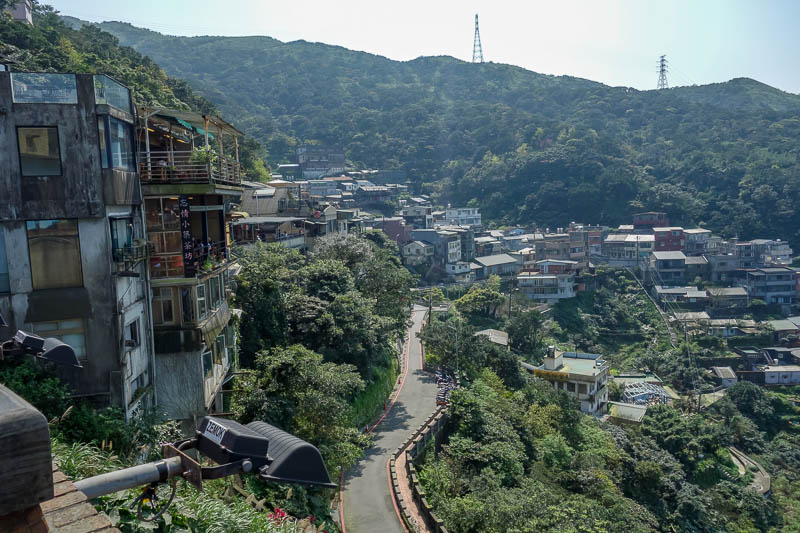 Taiwan-Jiufen-Hiking-Teapot Mountain - Theres a bit of the city itself, not a great photo, light was no good.