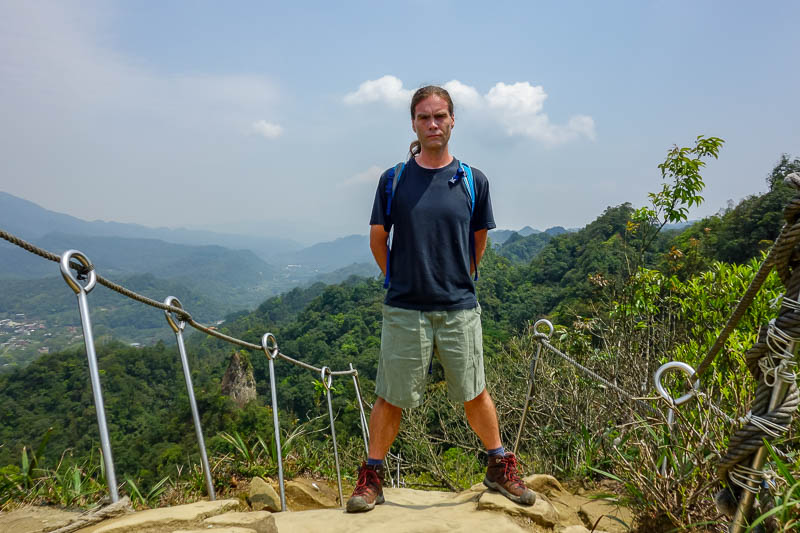 Taiwan-Pingxi-Hiking-Climbing - A good spot for one of these.