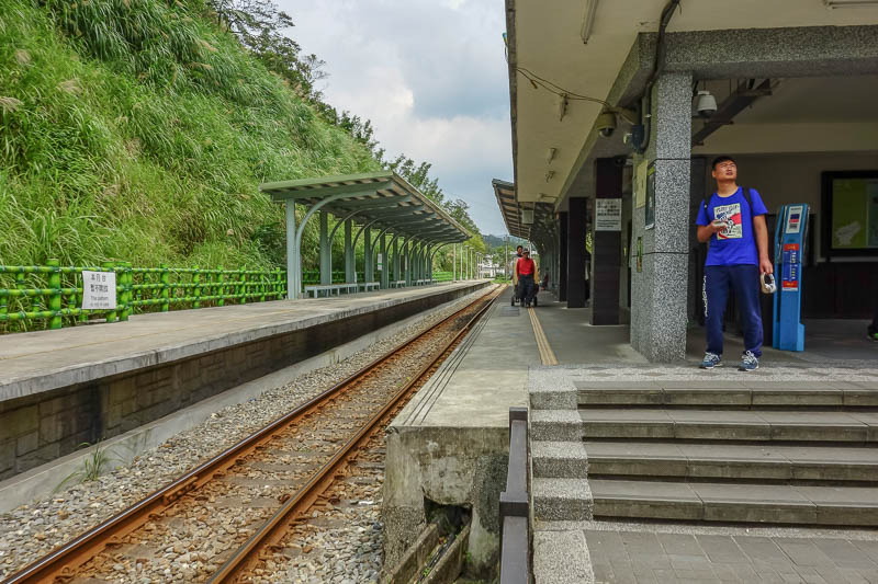 Taiwan-Pingxi-Hiking-Climbing - Here is the historic Pingxi railway station. It looks like an ordinary station, but its historic, signs tell me so.