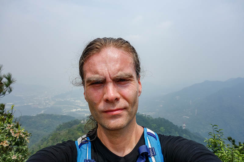 Taiwan-Taipei-Hiking-Wuliaojian - Good enough day to warrant a second selfie. I was sweating a lot.