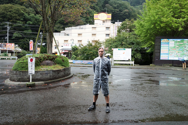 Japan-Tokyo-Hiking-Mount Takao - My first ever raincoat. I have a morbid fear of umbrellas and dont own a waterproof jacket of any kind. To the convenience store! They had 5 sizes, th