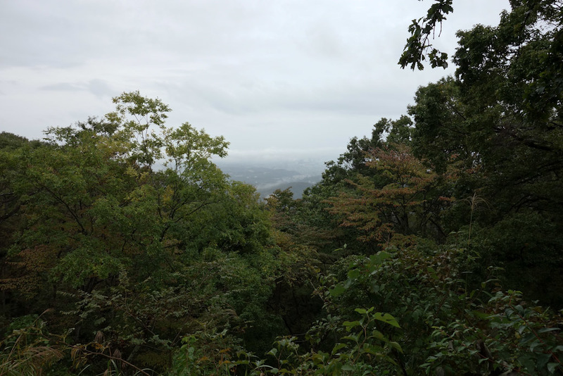 Japan-Tokyo-Hiking-Mount Takao - Tokyo is down there somewhere.